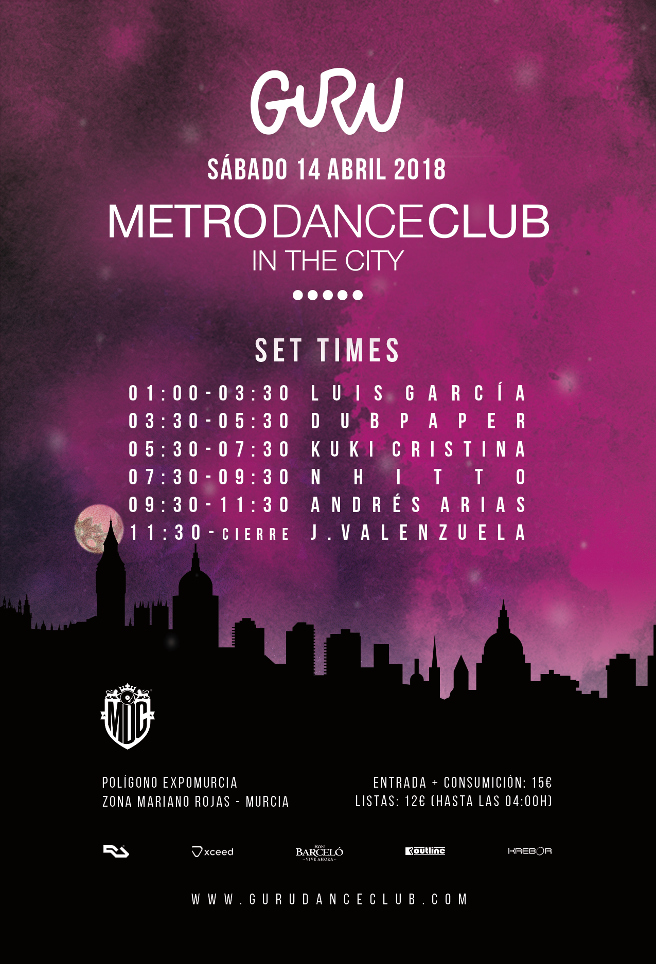 set-times metro in the city